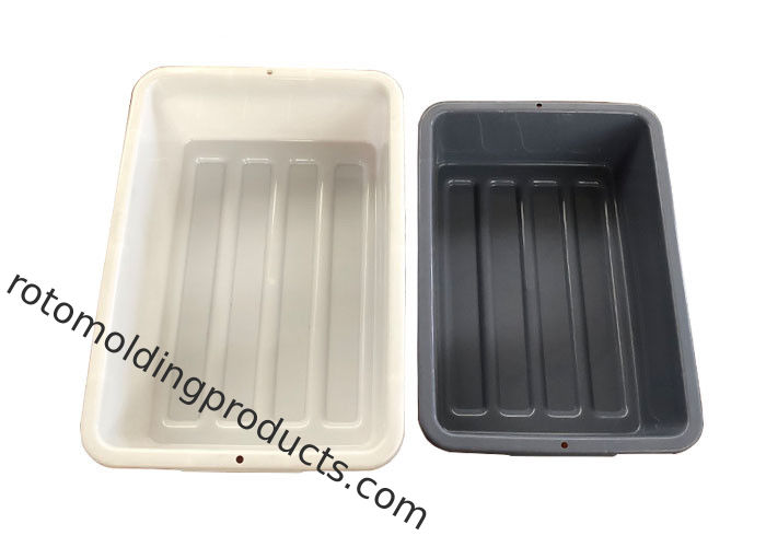Lightweight Small Plastic Bus Tote Bin Box Tubs For Washing , Airport Scanning