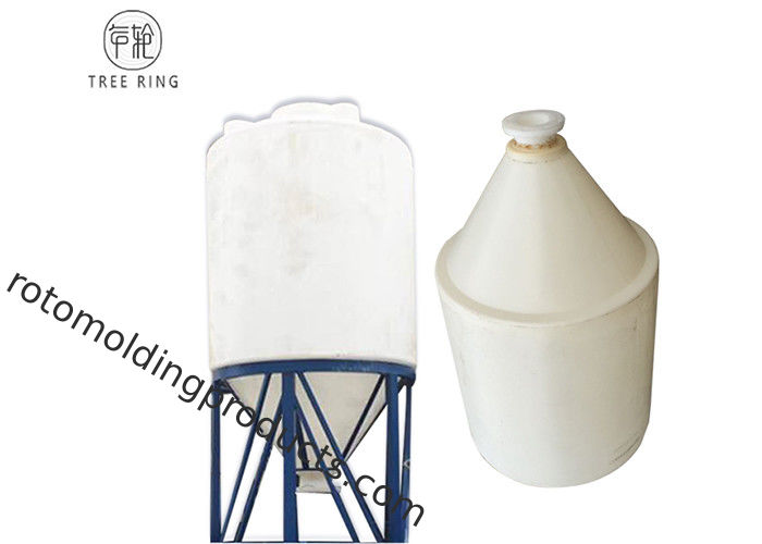 1500L 5000L Industrial Plastic Conical Fermentation Tank For Wine In White