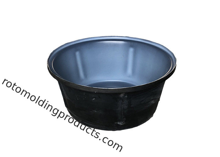Double Color Rotomolding Plastic Cattle Drinking Troughs Round Plastic Stock Tank 80L