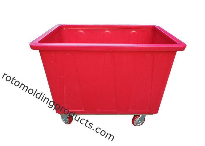 300Kg Roto Moulded Products Heavy Duty Stock Handling Trolley , Bar Bottle Bin Poly Skips